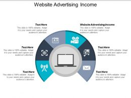 Website Advertising Income Ppt Powerpoint Presentation Infographics Graphic Images Cpb