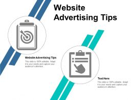 Website Advertising Tips Ppt Powerpoint Presentation Summary Deck Cpb
