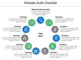 Website Audit Checklist Ppt Powerpoint Presentation Ideas Maker Cpb
