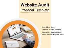 Website Audit Proposal Template Powerpoint Presentation Slides