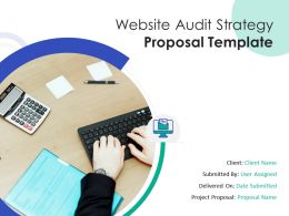Website Audit Strategy Proposal Template Powerpoint Presentation Slides