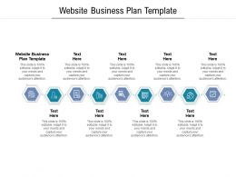 Website Business Plan Template Ppt Powerpoint Presentation Gallery Slides Cpb