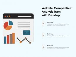 Website Competitive Analysis Icon With Desktop