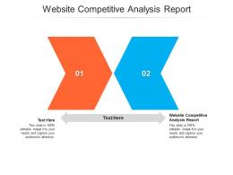 Website Competitive Analysis Report Ppt Powerpoint Presentation Portfolio Background Images Cpb
