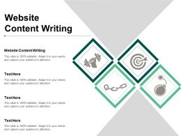 Website Content Writing Ppt Powerpoint Presentation Show Clipart Images Cpb