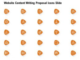 Website Content Writing Proposal Icons Slide Ppt Powerpoint Presentation Pictures Designs