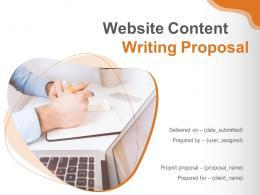 Website Content Writing Proposal Powerpoint Presentation Slides