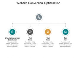 Website Conversion Optimisation Ppt Powerpoint Presentation Portfolio Deck Cpb