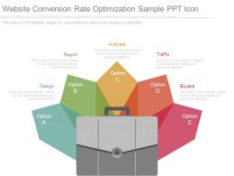 Website Conversion Rate Optimization Sample Ppt Icon