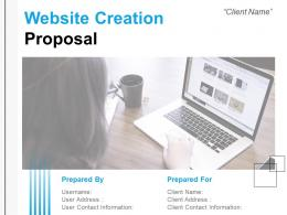 Website Creation Proposal Powerpoint Presentation Slides
