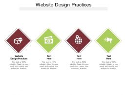 Website Design Practices Ppt Layouts Background Designs Cpb