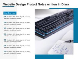 Website Design Project Notes Written In Diary