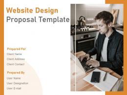 Website Design Proposal Template Powerpoint Presentation Slides