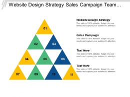 Website Design Strategy Sales Campaign Team Building Management