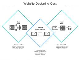 Website Designing Cost Ppt Powerpoint Presentation Pictures Topics Cpb