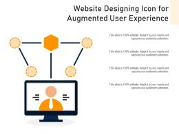 Website Designing Icon For Augmented User Experience