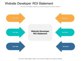 Website Developer ROI Statement Ppt Powerpoint Presentation Outline Aids Cpb