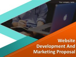 Website Development And Marketing Proposal Powerpoint Presentation Slides