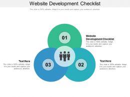 Website Development Checklist Ppt Powerpoint Presentation Summary Visuals