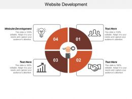 Website Development Ppt Powerpoint Presentation Inspiration Deck Cpb