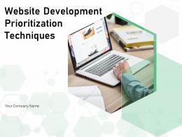 Website Development Prioritization Techniques Powerpoint Presentation Slides