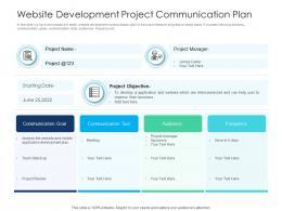 Website Development Project Communication Plan
