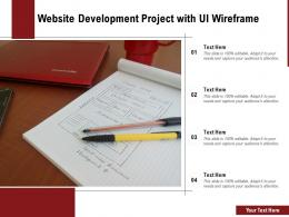 Website Development Project With UI Wireframe