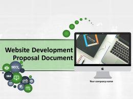 Website Development Proposal Document Powerpoint Presentation Slides