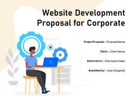 Website Development Proposal For Corporate Powerpoint Presentation Slides