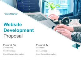 Website Development Proposal Powerpoint Presentation Slides