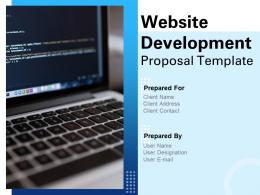 Website Development Proposal Template Powerpoint Presentation Slides