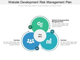 Website Development Risk Management Plan Ppt Powerpoint Presentation Summary Microsoft