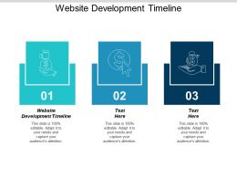 Website Development Timeline Ppt Powerpoint Presentation Icon Cpb