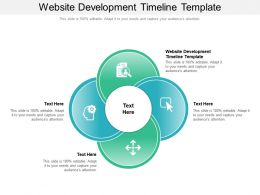 Website Development Timeline Template Ppt Powerpoint Presentation Layouts Background Images
