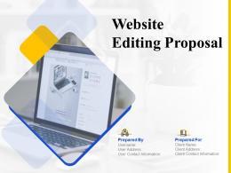 Website Editing Proposal Powerpoint Presentation Slides