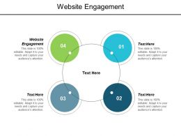 Website Engagement Ppt Powerpoint Presentation Layouts Show Cpb