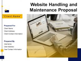 Website Handling And Maintenance Proposal Powerpoint Presentation Slides