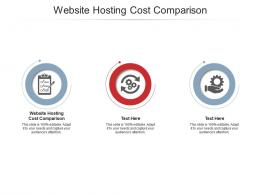 Website Hosting Cost Comparison Ppt Powerpoint Presentation Show Cpb