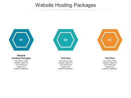 Website Hosting Packages Ppt Powerpoint Presentation Infographics Design Ideas Cpb