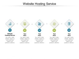 Website Hosting Service Ppt Powerpoint Presentation Infographics Icon Cpb