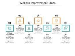 Website Improvement Ideas Ppt Powerpoint Presentation Summary Outfit Cpb
