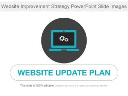 Website Improvement Strategy Powerpoint Slide Images