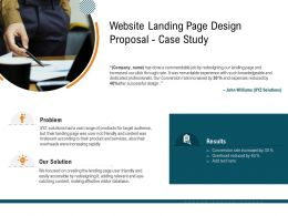 Website Landing Page Design Proposal Case Study Ppt Powerpoint Presentation Outline Graphic Tips