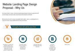 Website Landing Page Design Proposal Why Us Ppt Powerpoint Presentation Layouts