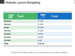 Website Launch Budgeting