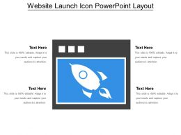 Website Launch Icon Powerpoint Layout