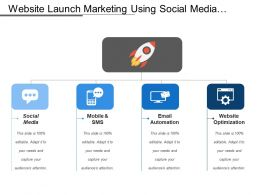 Website Launch Marketing Using Social Media Email Mobile And Sms