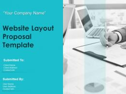 Website Layout Proposal Template Powerpoint Presentation Slides