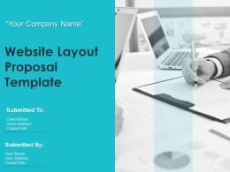 Website Layout Proposal Template Powerpoint Presentation Slides