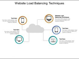 Website Load Balancing Techniques Ppt Powerpoint Presentation Model Clipart Images Cpb